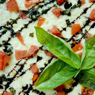 Margarita Pizza with Balsamic Drizzle.