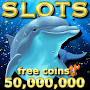 Dolphin & Gold Fish Lucky Casino Slot Game FREE APK icon