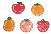 Photo: Paper Clips (Fruit Shaped)