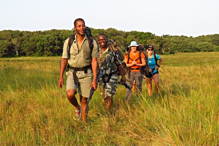 Trailists in the iSimangaliso Wetland Park