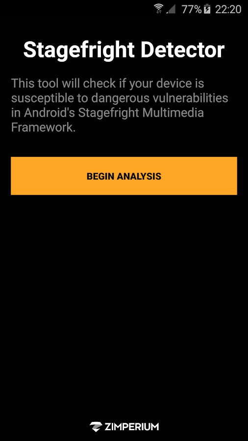 Stagefright Detector- screenshot