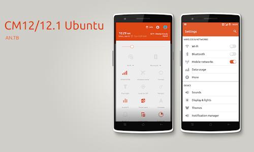 CM12/12.1 Ubuntu theme v1.1