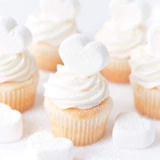 Marshmallow Heart Cupcakes