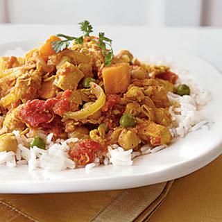 Sweet Potato Chicken Curry.