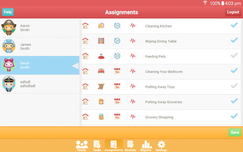 Kids Commission:  A Reward System App for Families Screenshot