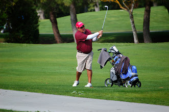 Photo: Dave Olivo wins most stuff on the bag award.