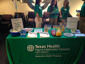 Photo: Southwest Airlines Health Expo May 15, 2013 Executive Health Program Table