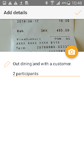e-conomic - expenses- screenshot thumbnail