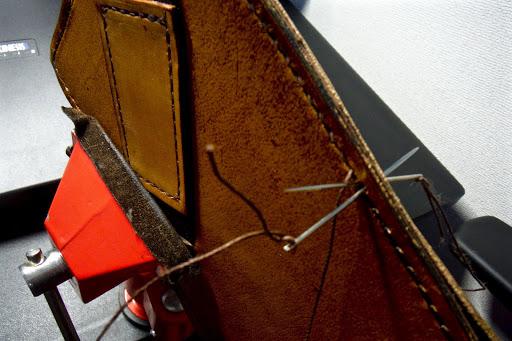 kindleケース縫い