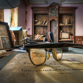 Dusty Glasses by Niki Feijen - Artistic Objects Other Objects ( urbex, villa, hdr, glasses, house, abandoned )