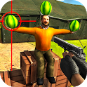 Watermelon shooting game 3D icon