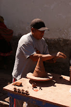 Photo: A potter in the Pisac, a market town that is situated in the middle of a vast area surrounded by Incan ruins