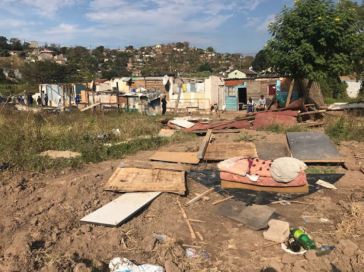 A shack settlement in Chesterville was razed on Monday by the eThekwini Municipality's Land Invasion Unit.