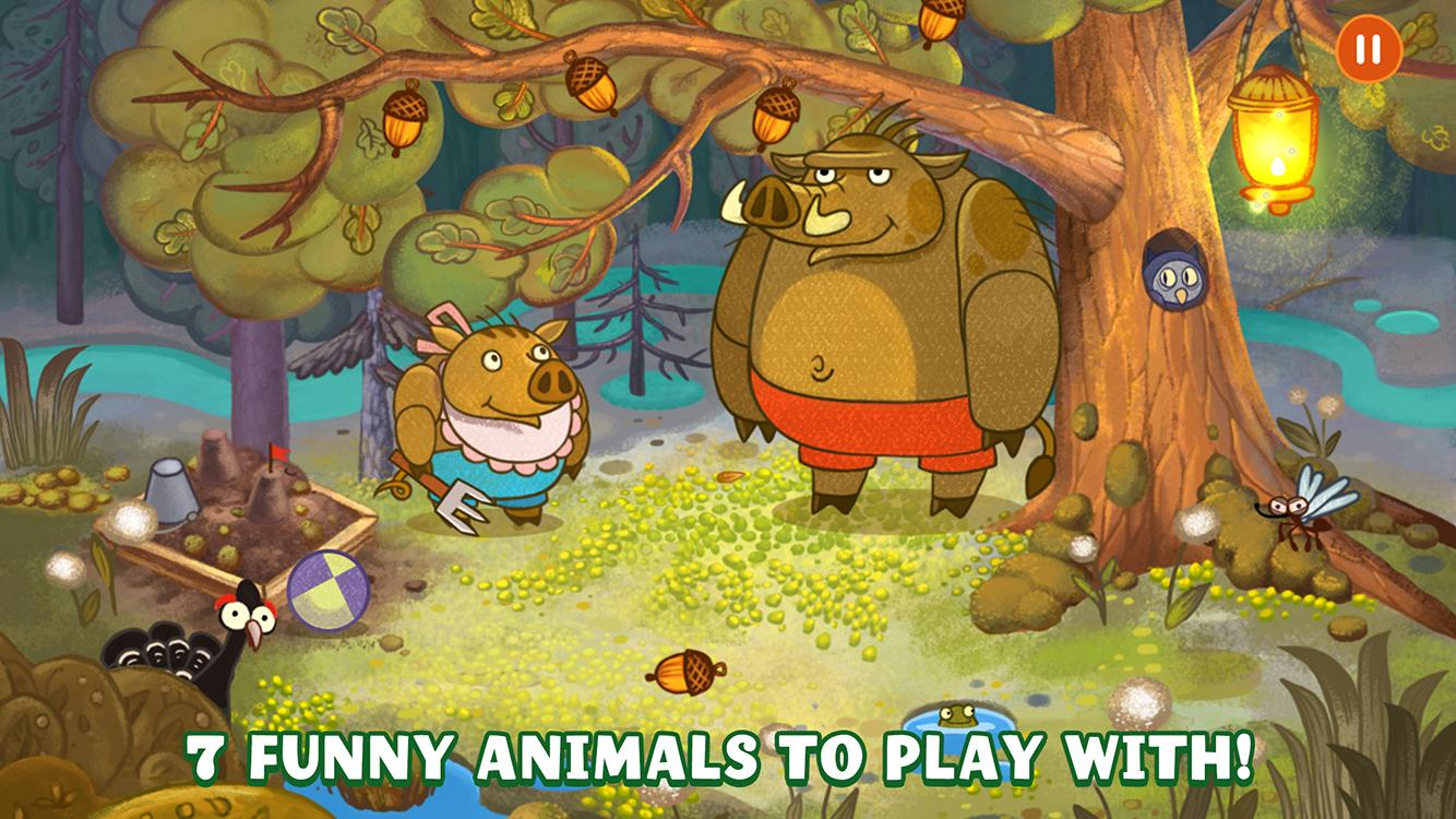 Forestry Animals - Nighty night game for Kids 3+- screenshot