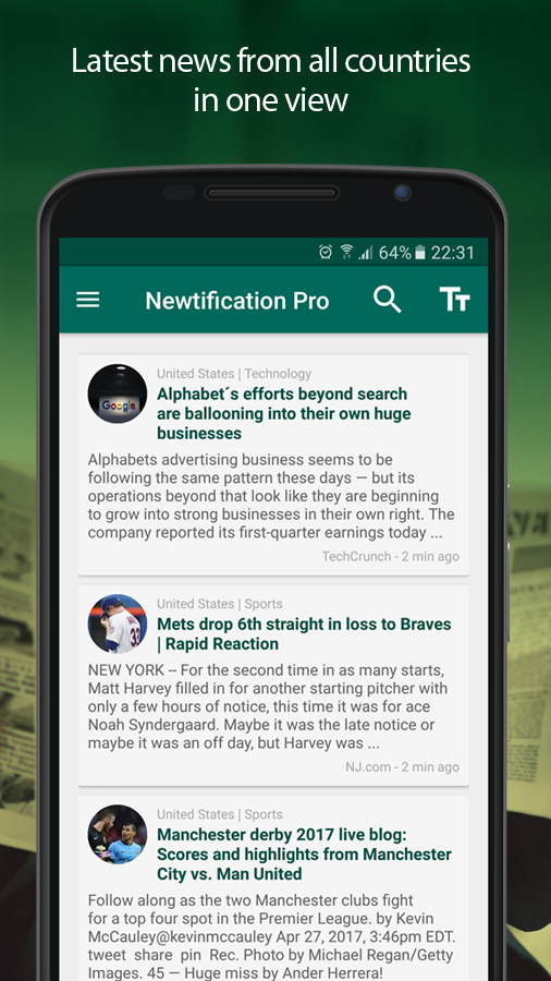 News by Notifications PRO- screenshot