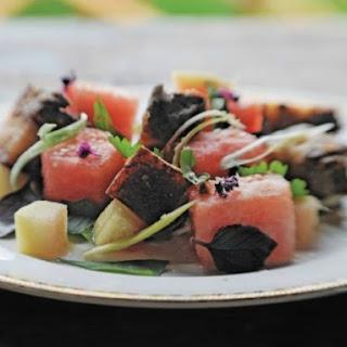 Zak Pelaccio's Crispy Pork and Watermelon Salad.
