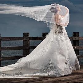 Bride by Kurnia Lim - Wedding Bride ( woman, sonyalpha, wedding, dramatic, beauty, bride, portrait )