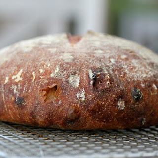 Sourdough Bread with Walnuts and Raisins.
