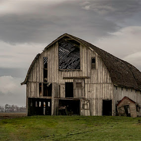 LaConnor Barn by Marie Browning - Buildings & Architecture Decaying & Abandoned ( laconnor, barn, 2016, architecture, abandoned, decay,  )