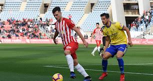 Álvaro Giménez en el partido contra el Cádiz.