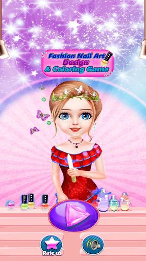 Fashion Nail Art Design & Coloring Game filehippodl screenshot 1