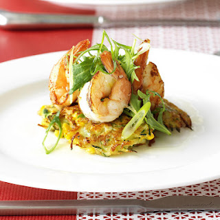 Zucchini Cakes with Lemon Shrimp