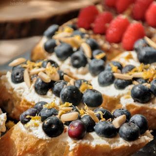 Blueberry Ricotta Toast.
