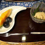 Japanese dessert in the $500 Ryokan at Senkei in Yumoto, Hakone in Hakone, Kanagawa, Japan