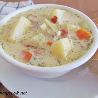 Crock Pot Leek & Potato Soup.