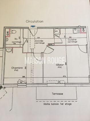 Vente appartement 2 pièces 49,55 m2
