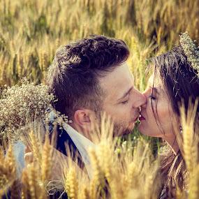 Love by Doru Iachim - Wedding Bride & Groom ( love, wedding, beauty, bride, groom,  )