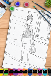 Young Ladies Painting Pages APK screenshot thumbnail 8