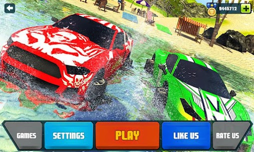 Floating Water Surfer Car Driving – Beach Racing 1