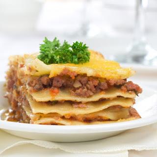 No Cheese Lasagna