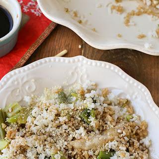 Cheesy Potsticker Rice Casserole