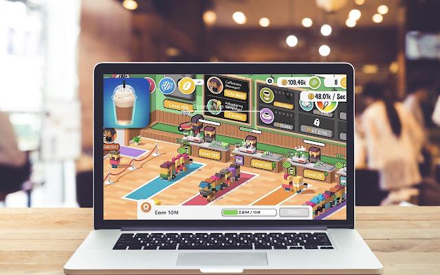 Idle Coffee Corp New Tab Game Theme