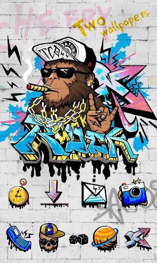 Rock Graffiti GOLauncher Theme