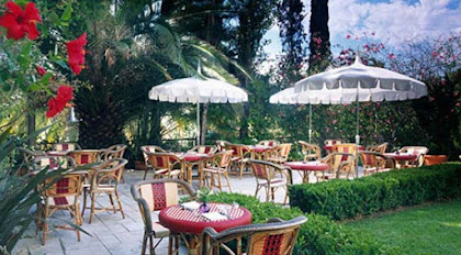 The terrace at the Restaurant at the Chateau Marmont, which is open seven days a week (click to enlarge).