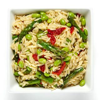 Asparagus & Edamame Orzo Salad