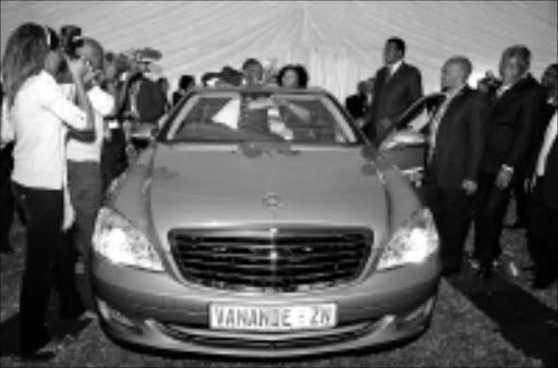 SWANKY: Minister Sbu Ndebele's Mercedes-Benz, which caused all the trouble. 15/05/09. Pic. Thuli Dlamini. © Sowetan.