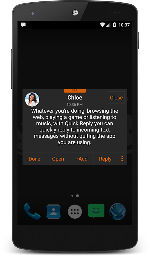 Screenshots of chomp SMS for iPhone