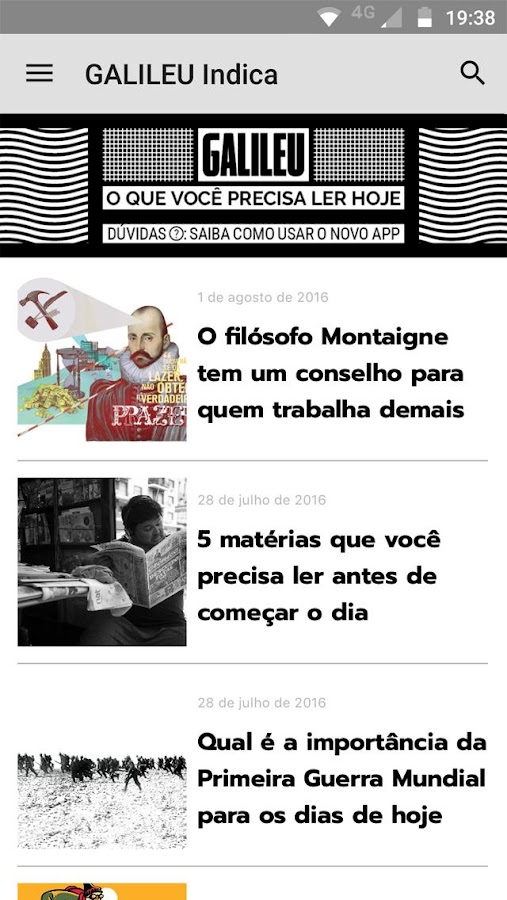 Revista Galileu- screenshot