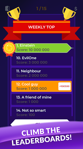 Millionaire 2019 - General Knowledge Quiz Online 1.0.94 screenshots 2