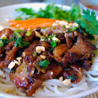 Bún Thịt Nướng (Vietnamese Grilled Pork over Vermicelli Noodles).