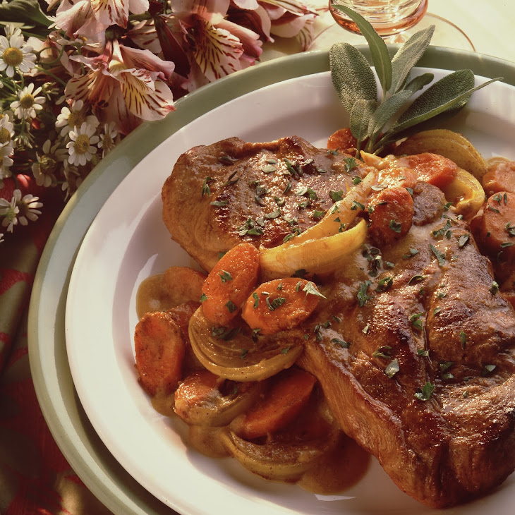 Pork Steaks with Curried Peanut Sauce