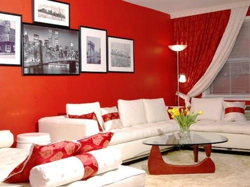 warna cat ruang tamu mungil yang bagus