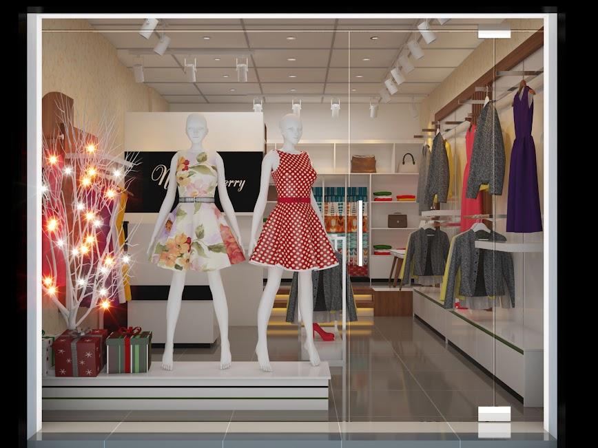 cải tạo thiết kế shop thời trang diện tích nhỏ trẻ trung