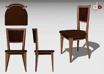 3D drawing of lingfield chair