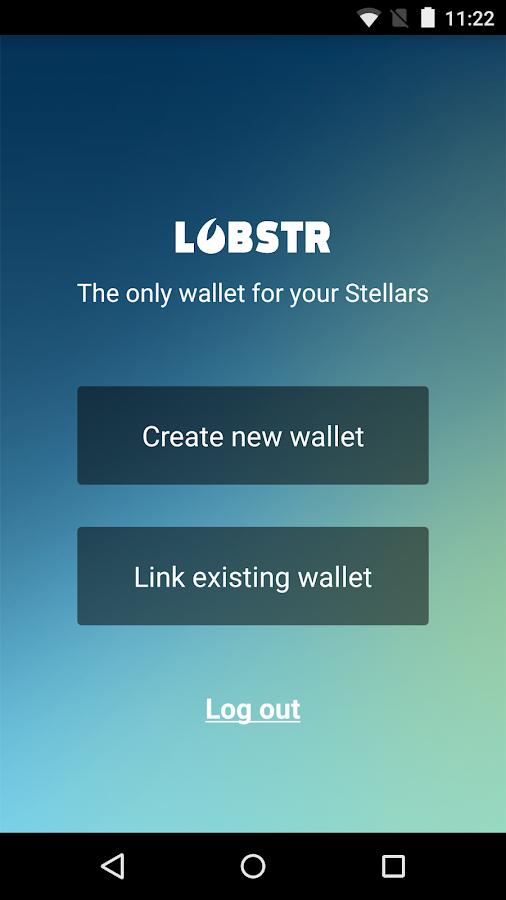 Lobstr - lumens/stellar wallet