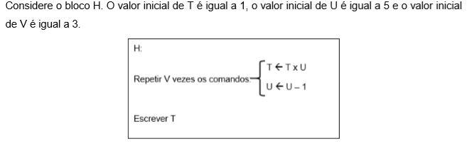 O valor escrito na variável T é: